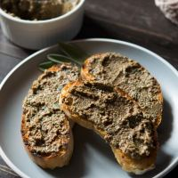 Adrienne's Rustic Chicken Liver Pate with Crostini