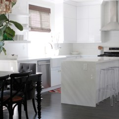 Kitchen Backsplash Trends Led Lighting Waterfall Island Remodel - Owens And Davis
