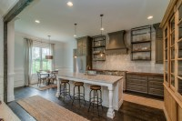Gray, Rustic and Refined Kitchen