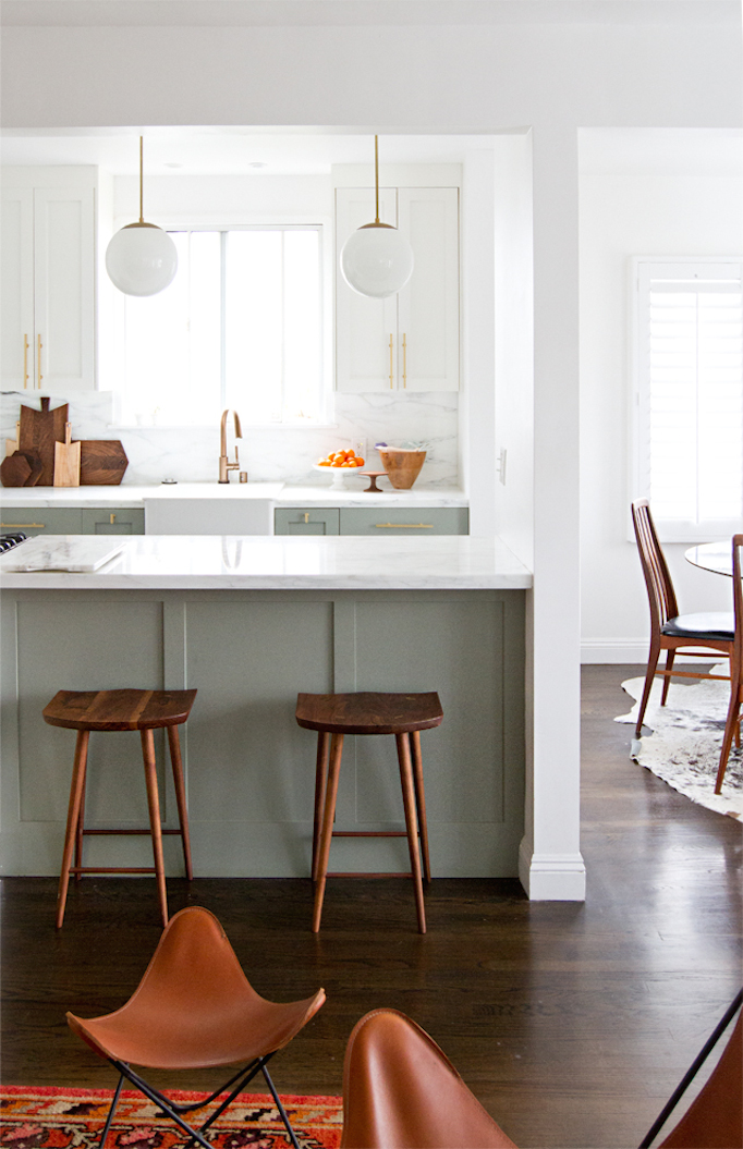 Before and After MidCentury Kitchen Makeover