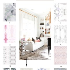 Latest Living Room Wallpaper Designs French Country Sofas Decorating With Eskayel - Becki Owens