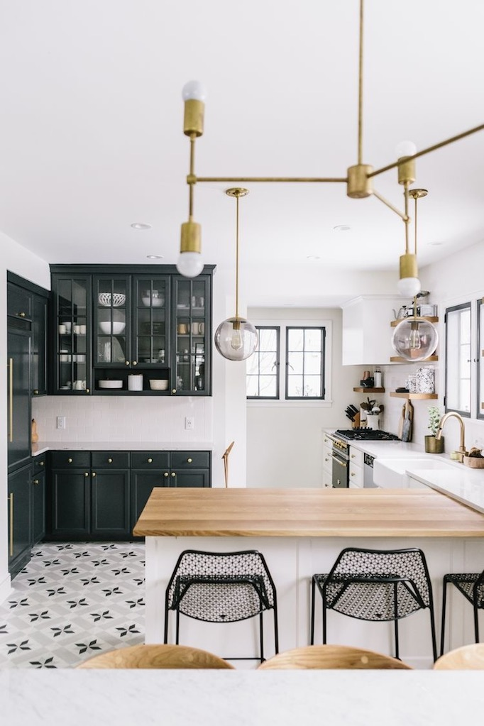 black and white tile kitchen polished nickel faucet charming brass renovation