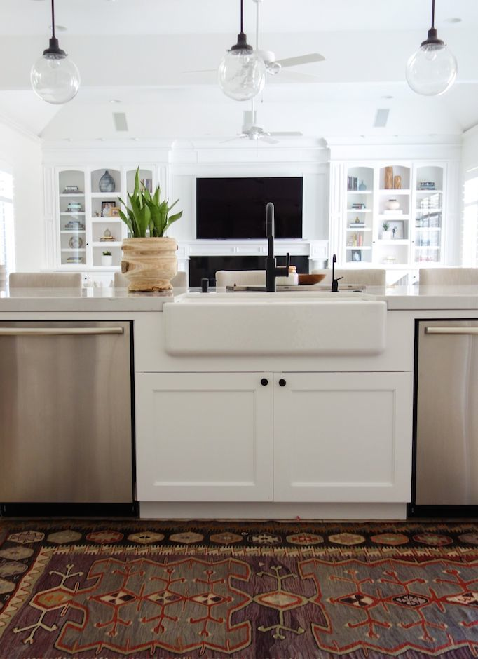mitered edge kitchen becki owens