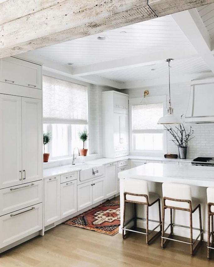 Love This Kitchen The Beams Wood Floors White Cabinets: 7 Elements Of The Modern FarmhouseBECKI OWENS