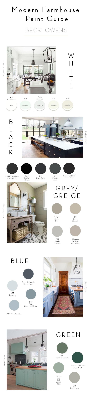 modern farmhouse paint guide