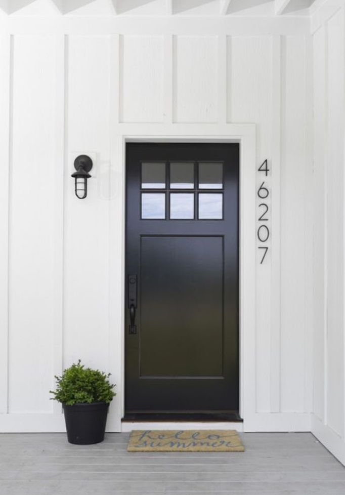 Black & Spring Curb Appeal: Painted Front Doors + Paint GuideBECKI OWENS
