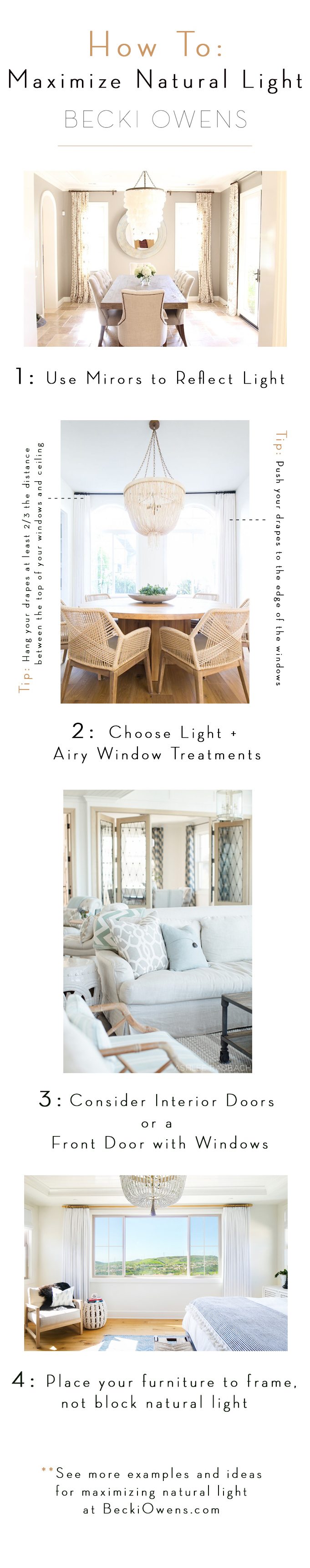 how to maximize natural light