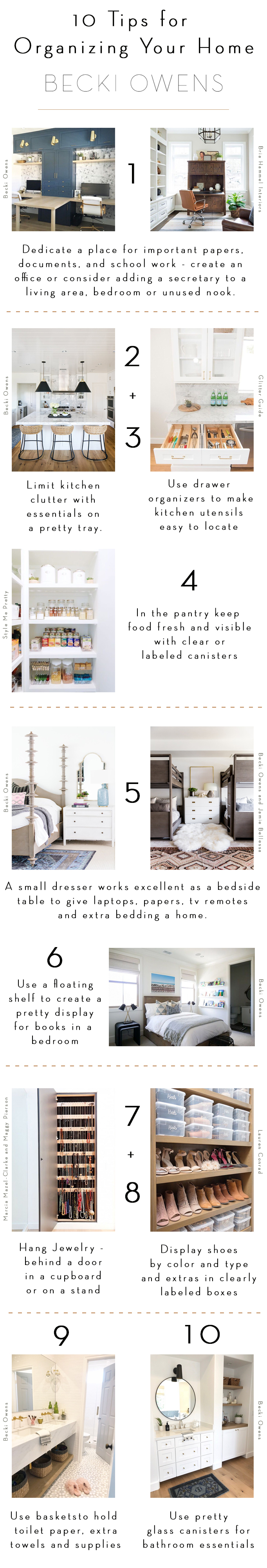 10 tips for organizing your homes