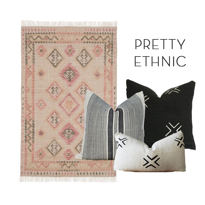 Becki Owens Pillow and Rug Combinations