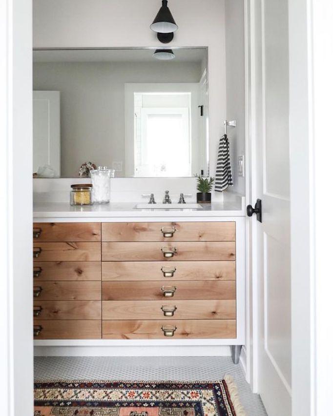 Bathroom Trend Warm Wood Vanitiesbecki Owens