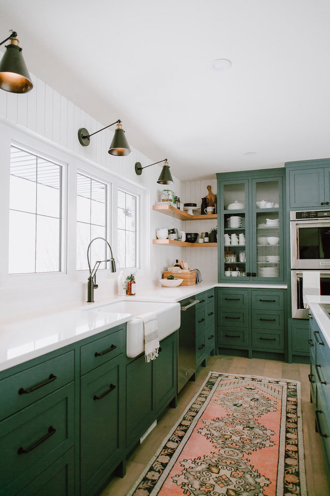 exciting green kitchens white cabinets | Kitchenspagesepsitename%%