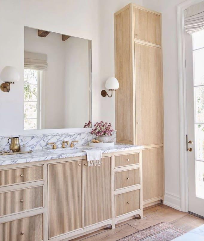 Design Trend 2021 Reeded Wood Cabinetry Becki Owens