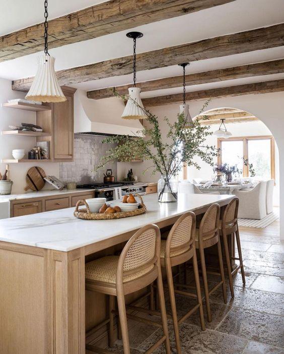 Stone and Wood Kitchen