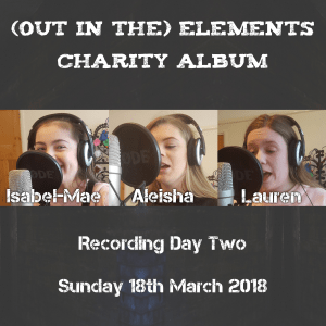 Day two of recording for charity album
