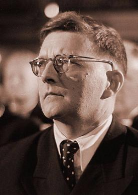 Dmitri Shostakovich's portrait, in the audience at the Bach Celebration of July 28, 1950 © Deutsche Fotothek