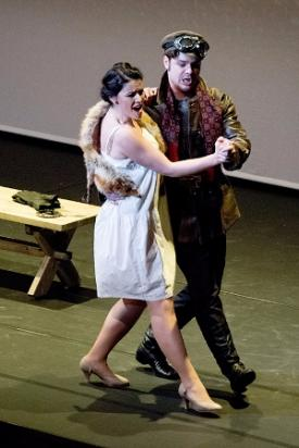 Natalia Pavlova (Parasha) and Artyom Melikhov (Vassily) in Mavra © Camilla Greenwell Photography