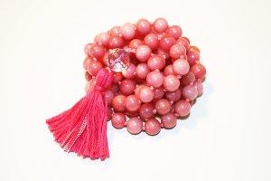 rhodonite pink mala