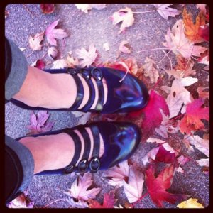 Fluevog Shoes Worn by Becky Prater of Beckons Yoga Clothing