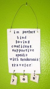 Beckons Yoga Clothing Imperfect plaque