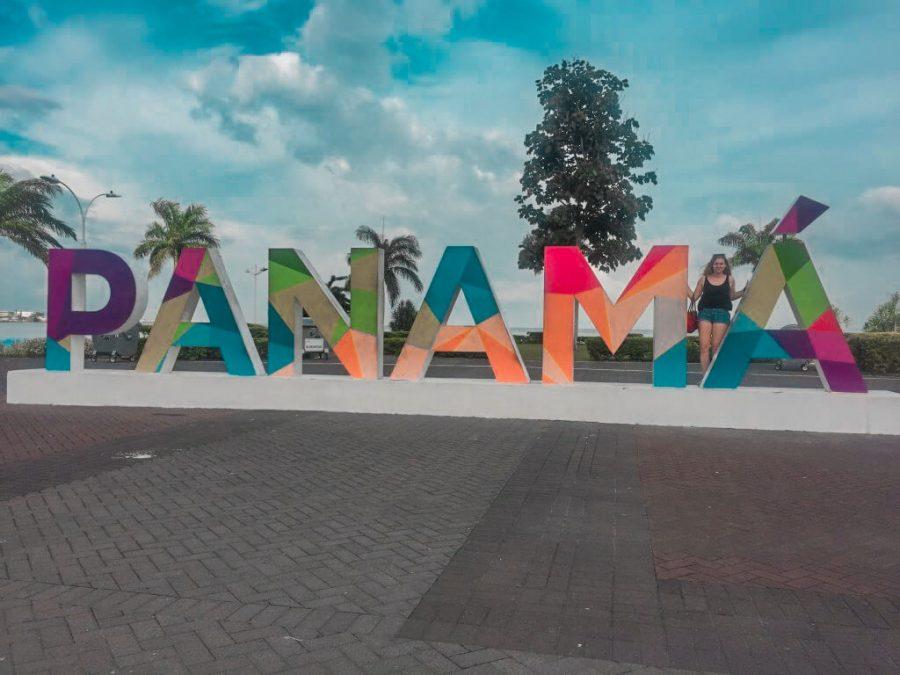 Panama sign in Panama City