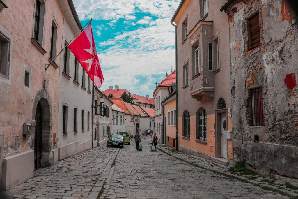 The beautiful old town of Bratislava, Slovakia