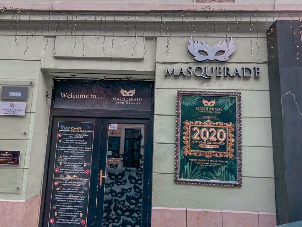 best bars and clubs in Bratislava: Masquerade