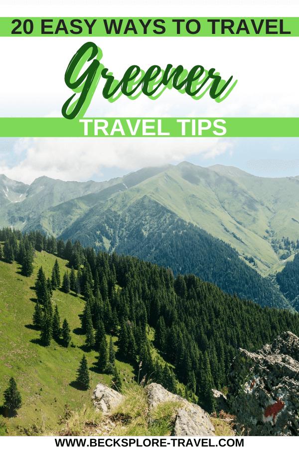 Best ways to travel greener, Pinterest Pin #ecotravel