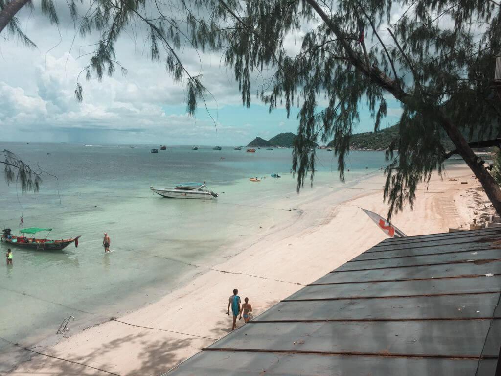 A beach on Koh Tao in Thailand