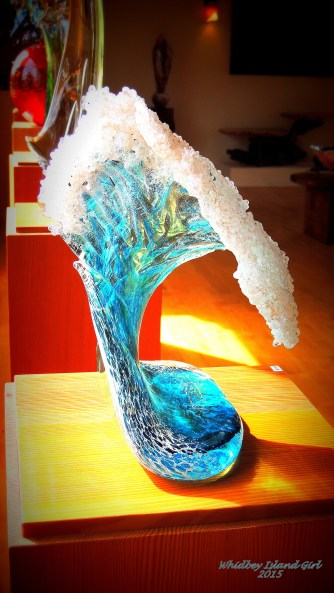 A wave sculpture.