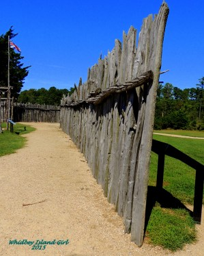 An old fort fence....