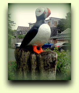Puffin Statue in Cannon Beach