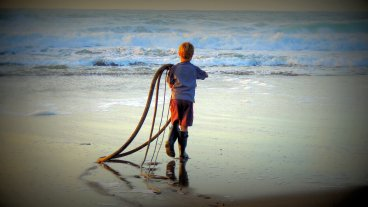 The Kid And The Kelp: Top 20% Photo Challenge award winner for 4/28/16...