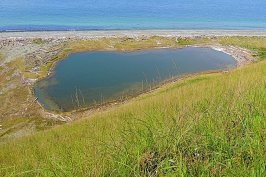 """I don't know why this is called a """"lagoon"""" when it looks more like a chain of brackish lakes..."""
