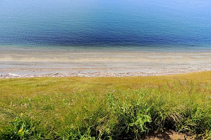 Water And Beach From Bluff