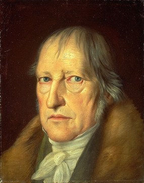 Hegel - he was too busy thinking to look happy