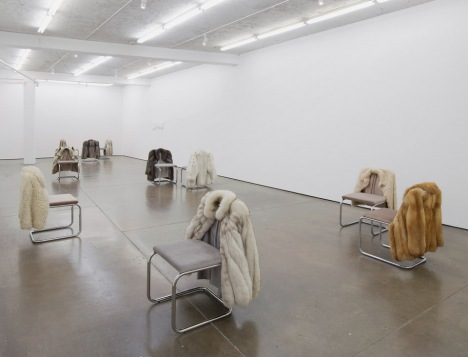 Fur coats and chairs