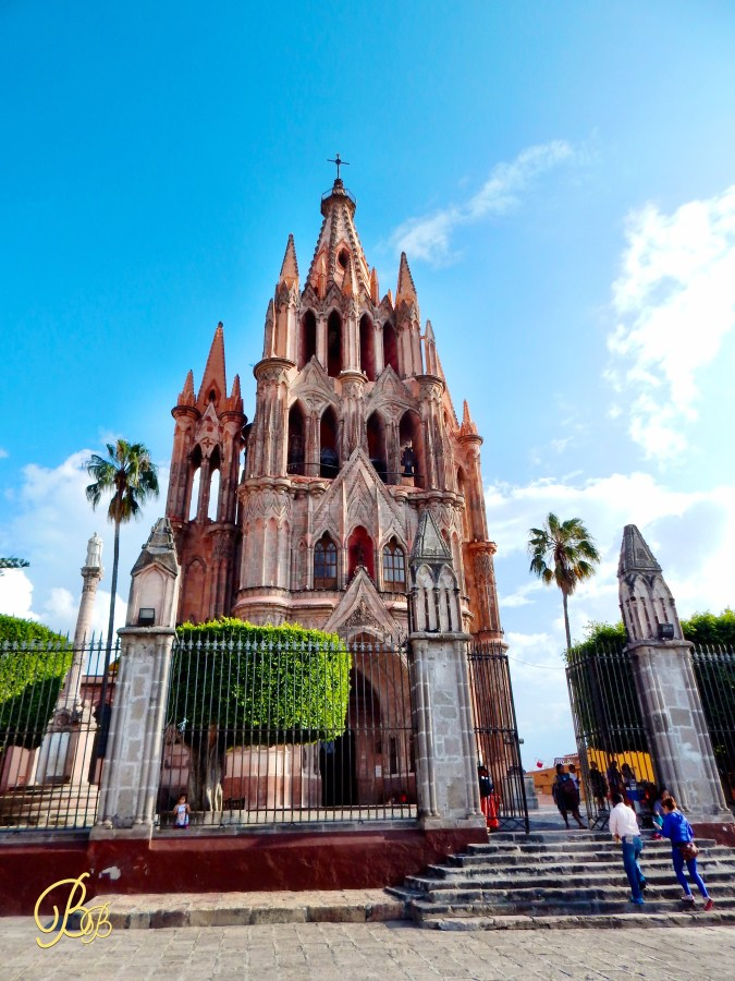 San Miguel de Allende church far