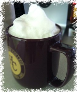 Homemade coffee latte