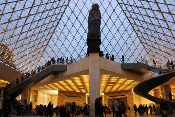Louvre Inside Pyramid Glass