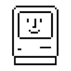 The original Mac icon, by Susan Kare.