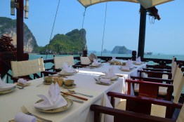 outdoor dining with a view