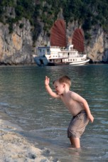 toddler enjoying his vacation