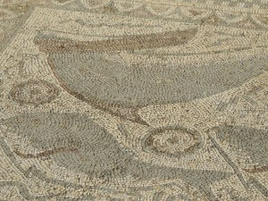 Roman mosaic at Estoi of dolphins