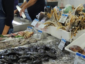 Some of the fishmongers only sell dried fish and cuttlefish