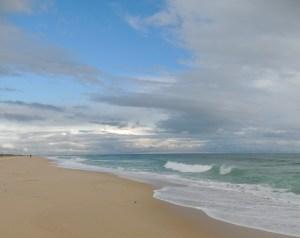 Busy beach in winter!