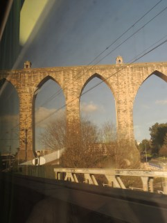 Our very first view of the aqueduct, taken last March