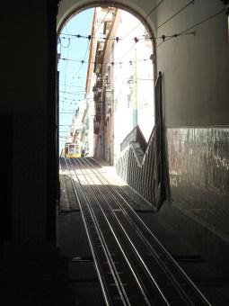 Looking up from Rua de S. Paulo