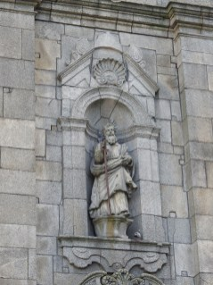On the side of the church