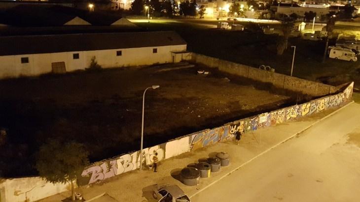 Street Artists at night