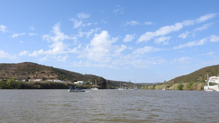 View from the middle of the Guadiana